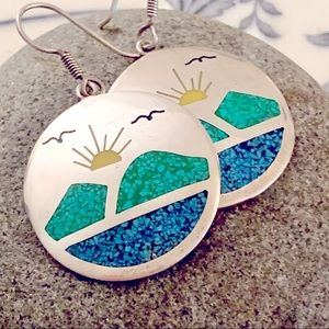 🌞A Day at the Lake Earrings-Taxco🌞